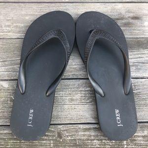 J. Crew Women's Flip Flops in Black. Size 9